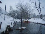 kajakarstwo zwałkowe, kajakarstwo zimowe, spływ Jagodzianką, kanałem bielińskiego
