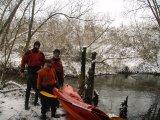 kajakarstwo zimowe, spływ Jeziorką