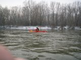 kajakarstwo zimowe, spływ Wisłą